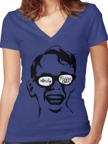 Oiling and Lotioning, Lotioning and Oiling Women's Fitted V-Neck T-Shirt