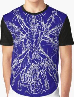 Vitruvian Coupling Blue Graphic T-Shirt
