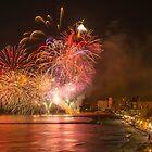 Fireworks at the Fiesta del Carmen 3 by Ralph Goldsmith