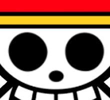one pieces luffy logo pirates Sticker