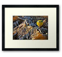 Hot air balloon flight over Cappadocia Framed Print