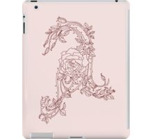 Letter A in floral iPad Case/Skin