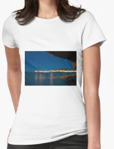 Sea view at night Womens Fitted T-Shirt