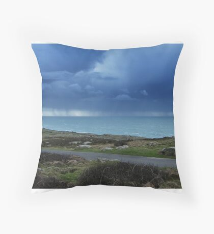 End of the Land Throw Pillow