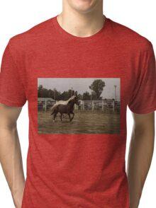 Horses in a trot Tri-blend T-Shirt