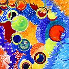 Marbles Watercolor Abstract  by KatrinaArt