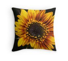 The Weaping Sunflower Throw Pillow