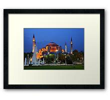 Blue hour in Hagia Sophia Framed Print