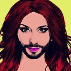 Conchita Wurst - Pop Art - Yellow version 4 by lockwie