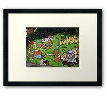 Graffiti, Avenue B, Lower East Side, NYC Framed Print