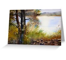 Near the  Lake in the Summer Day Greeting Card