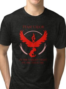 Team Valor - In The Darkest Night, We Are The Flame Tri-blend T-Shirt