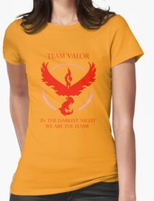 Team Valor - In The Darkest Night, We Are The Flame Womens Fitted T-Shirt