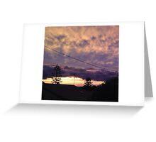 Sunset Greeting Card