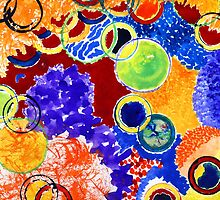 Marbles Watercolor Abstract Part 2 by KatrinaArt