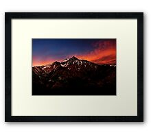 Mount Whitney At Sunset. Framed Print
