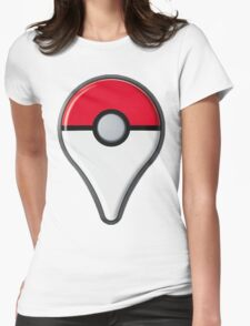 Pokemon Go Drop Pin Womens Fitted T-Shirt