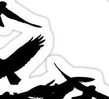 Flying Birds Silhouette Sticker