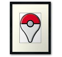 Pokemon Go Drop Pin Framed Print