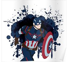 Patriotic Paint Splatters Poster