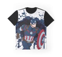 Patriotic Paint Splatters Graphic T-Shirt