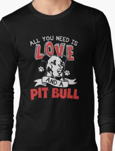 LOVE PIT BULL Long Sleeve T-Shirt