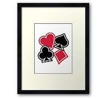 Poker heart spade diamond club Framed Print