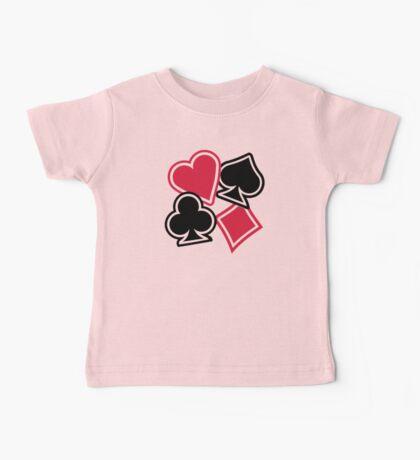 Poker heart spade diamond club Baby Tee