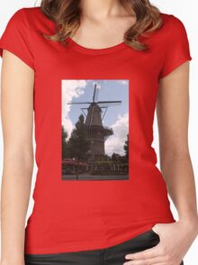 De Gooyer Windmill Amsterdam Women's Fitted Scoop T-Shirt