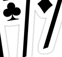 Poker Cards Aces Sticker