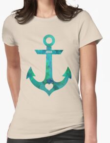 Christian Anchor Womens Fitted T-Shirt