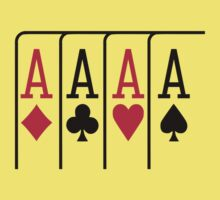 Poker cards aces Kids Clothes