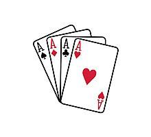 Poker aces gambling Photographic Print