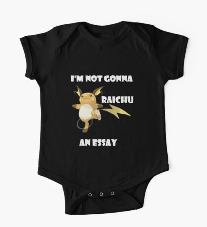 I'm not gonna RAICHU an essay! One Piece - Short Sleeve