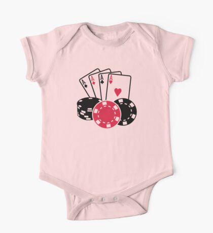 Poker cards chips One Piece - Short Sleeve
