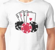 Poker cards chips Unisex T-Shirt