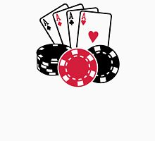 Poker cards chips Unisex T-Shirt