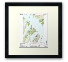 USGS TOPO Map Alaska AK Seward A-3 358865 2000 63360 Framed Print
