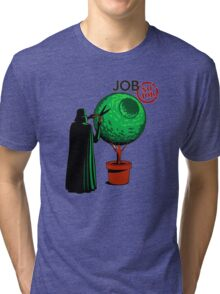 Job Or No Job - Darth Vader Space Planet Tri-blend T-Shirt