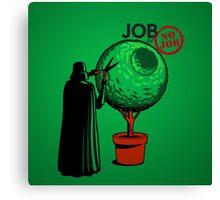 Job Or No Job - Darth Vader Space Planet Canvas Print