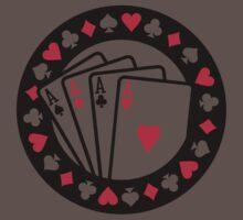 Casino poker aces One Piece - Short Sleeve