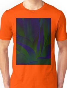 Succulent Abstract  in Blue and Green #215 Unisex T-Shirt