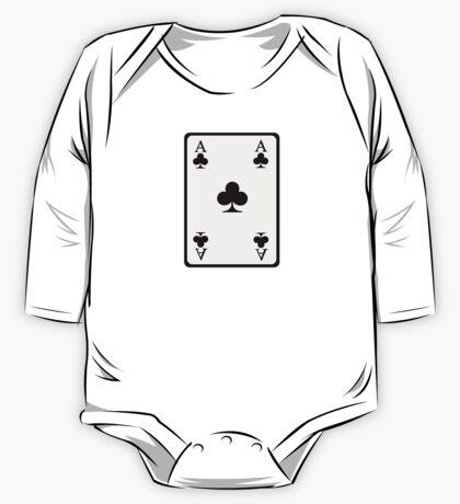 Poker ace clubs One Piece - Long Sleeve