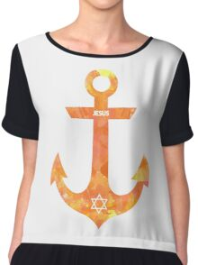 Christian Anchor Chiffon Top
