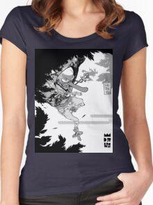 Classic D-pi Tengu design  Women's Fitted Scoop T-Shirt