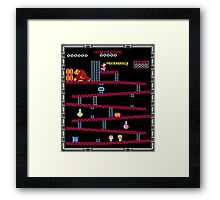 Heisenberg and Donkey Kong Framed Print