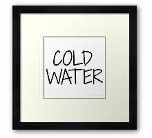 Justin Biebers - Cold Water Framed Print