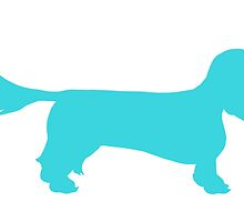 Long Haired Dachshund Silhouette by burritomadness