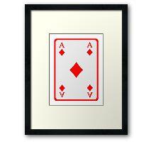 Poker ace diamonds Framed Print