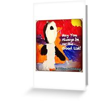 Who's on the Good List? Greeting Card